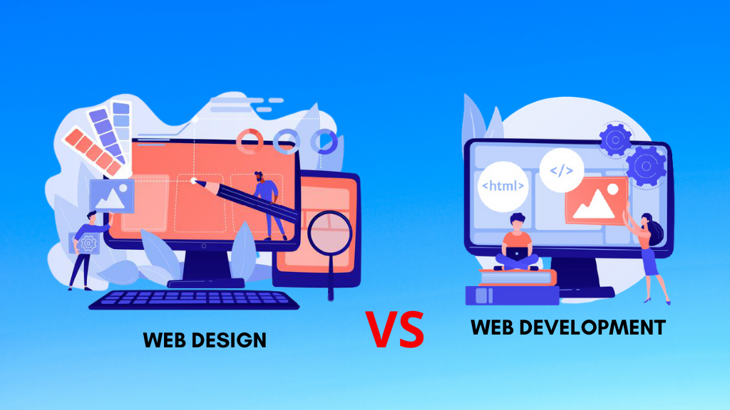 difference between web development and web design