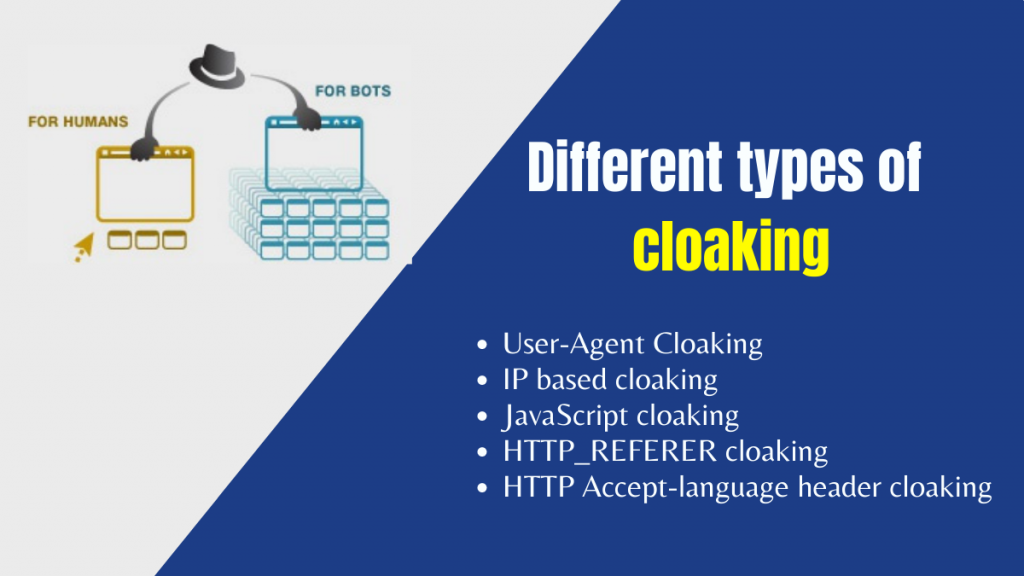 different types of cloaking