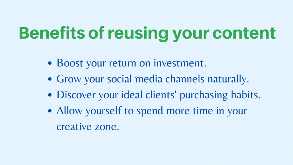 Benefits of reusing your content