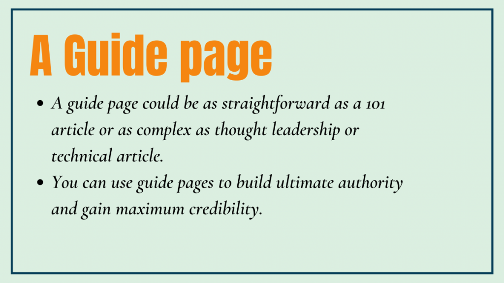 The Guide Page