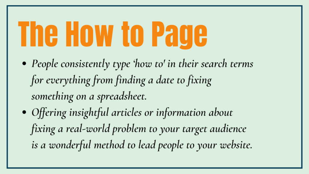 The How to Page