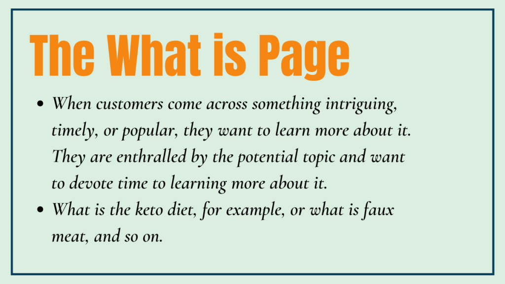 The What is Page